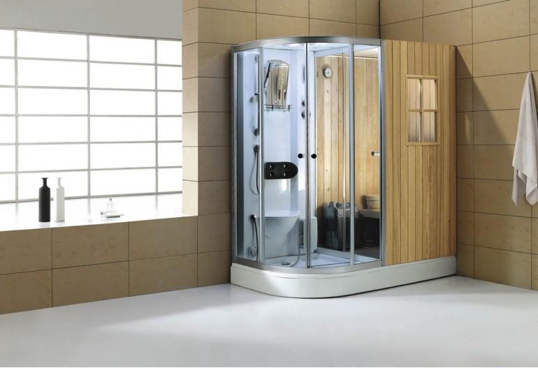 Sauna seca + sauna húmeda con ducha AS-001