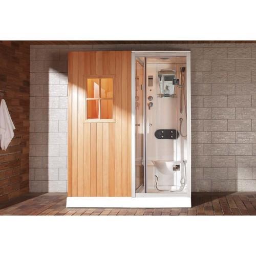 Sauna seca + sauna húmida com chuveiro de hidromassagem AS-002