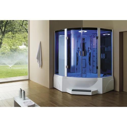 Cabine hidromassagem e banheira com sauna AT-011C