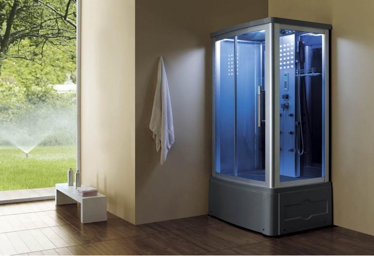 Cabine de hidromassagem e banheira com sauna AT-014