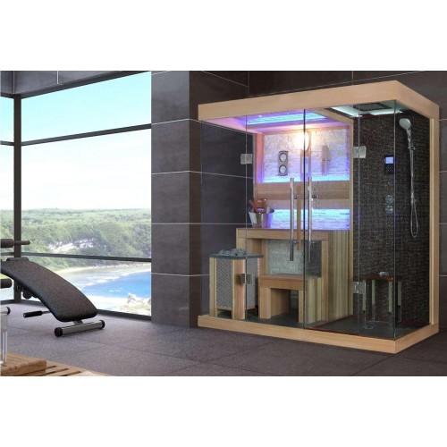 ¡Sauna seca e sauna húmida com chuveiro AT-001A!